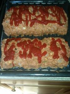 Meatloaf making 2