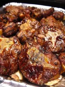 oxtail- on veggies