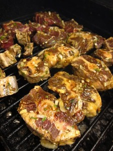 oxtails - on grill