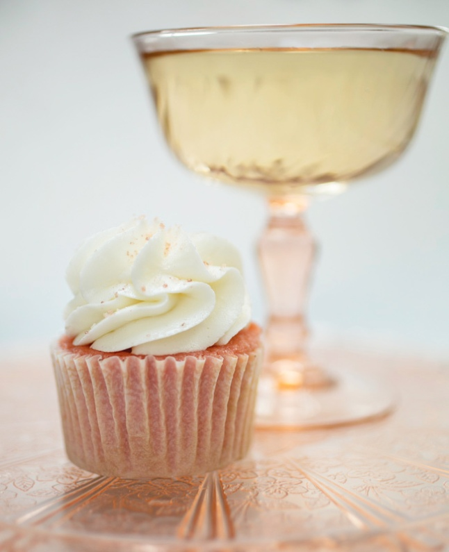 Pink Champagne Cupcake