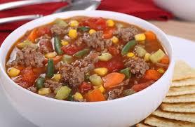 Pressure Cooker Beef Veggie Rice Soup